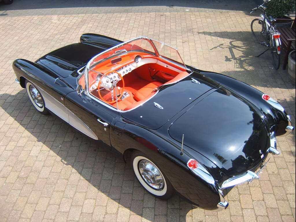 57 Chevrolet Corvette E57s10921 Union Jack Vintage Cars