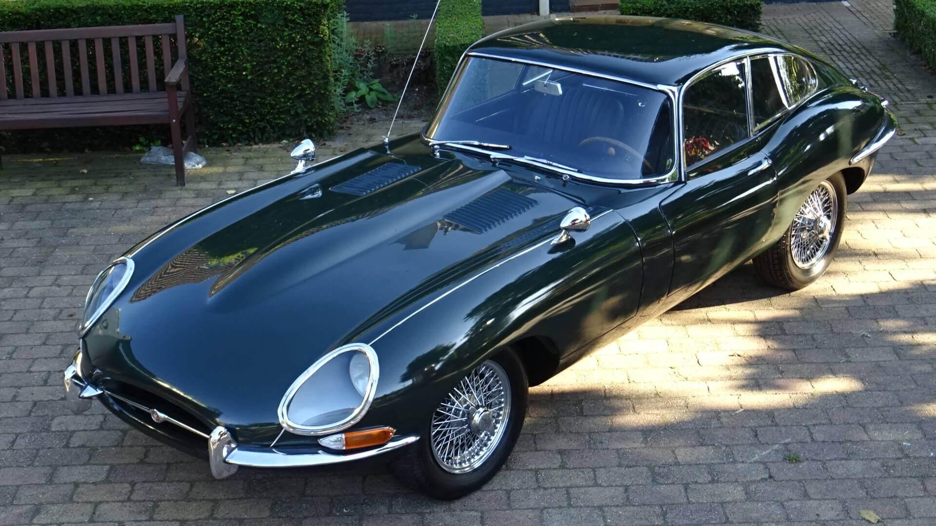 66 jaguar e type 4 2 coupe serie 1 union jack vintage cars. Black Bedroom Furniture Sets. Home Design Ideas