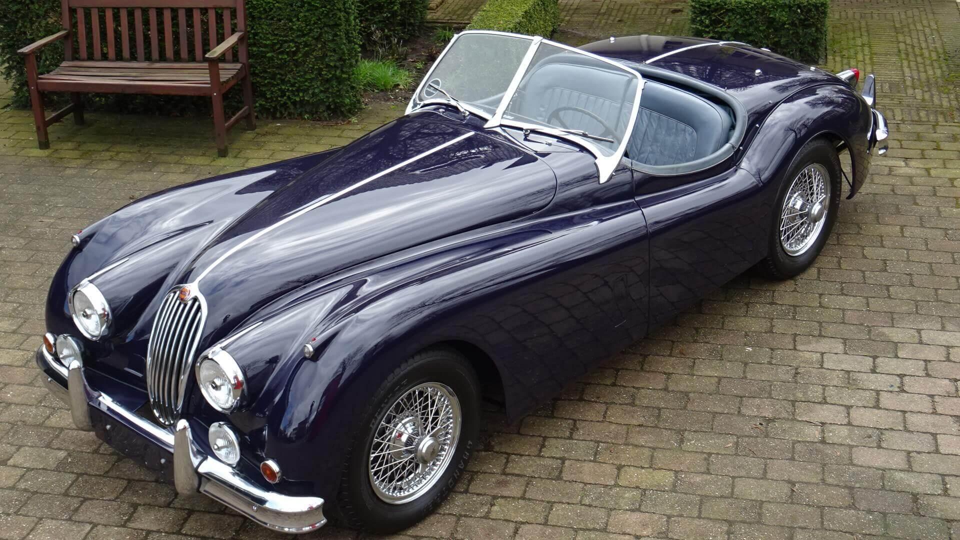 54 Jaguar Xk 140 Ots Se Union Jack Vintage Cars