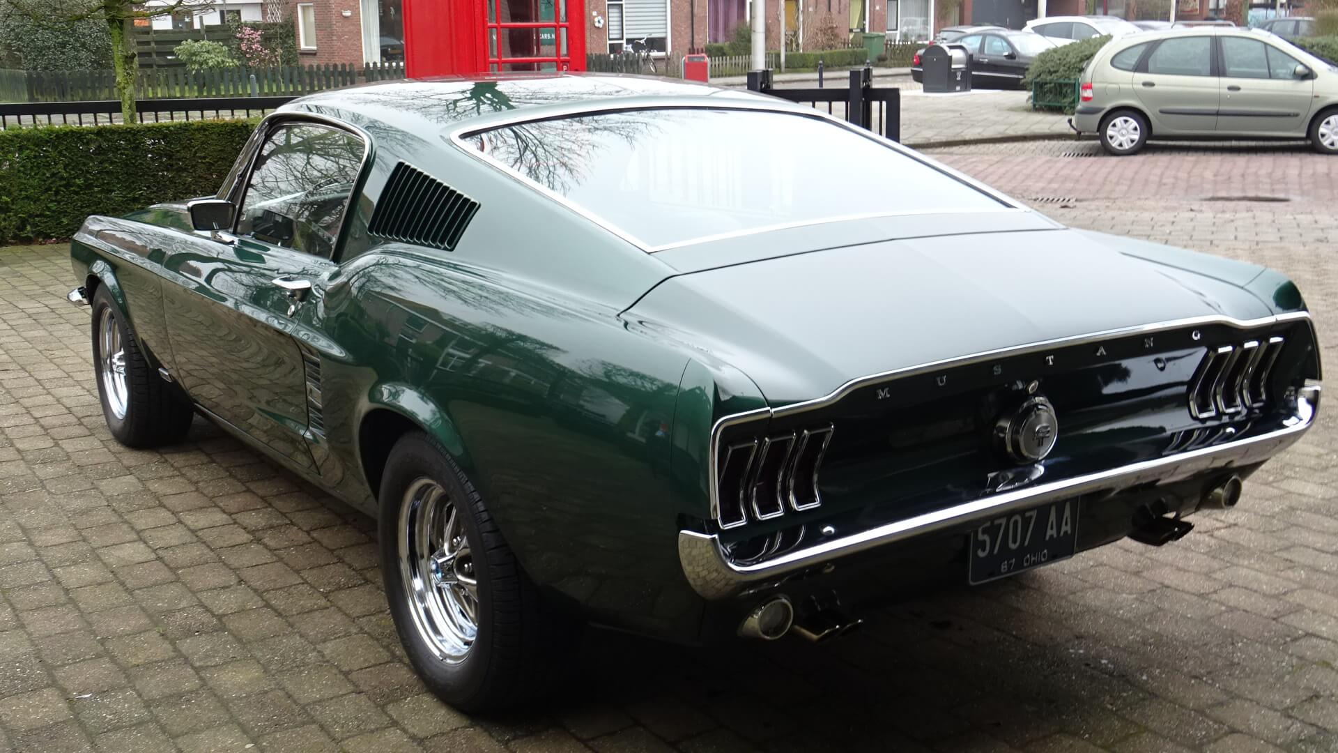 67 Ford Mustang 390 Fastback Gta Union Jack Vintage Cars