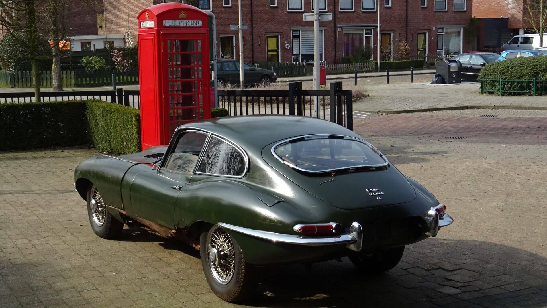 65 jaguar e type 4 2 fixed head coupe 1e 30801 union jack vintage cars. Black Bedroom Furniture Sets. Home Design Ideas