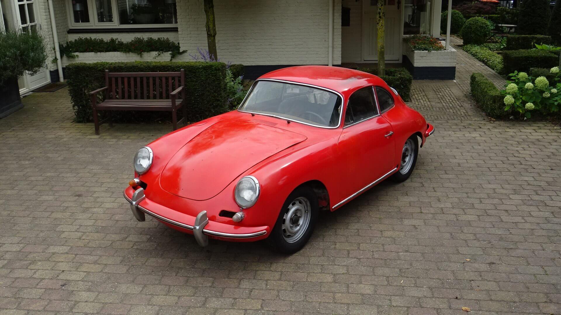 64 Porsche 356 C Coupe Union Jack Vintage Cars